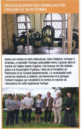 Inauguration-pendule -edifice-clocher-rilly-eglise-mairie
